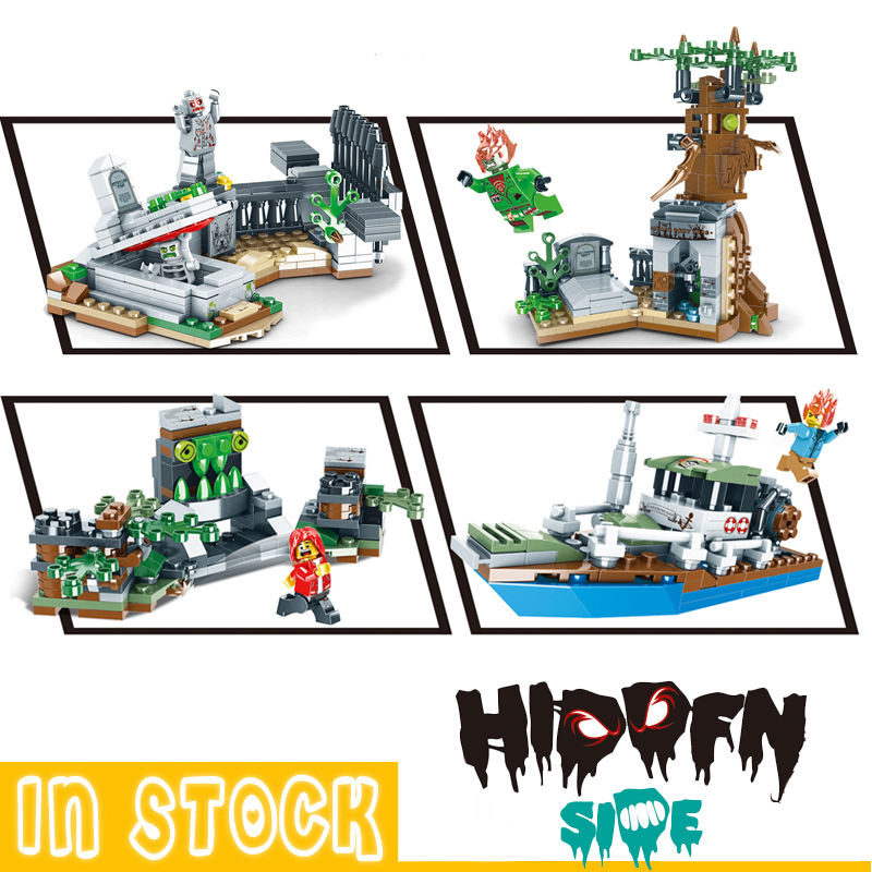 Hidden Side 4 In 1 Ghost Ideas Model Building Blocks Bricks Model Kids Toys For Children Gifts Friends Blcoks Technic