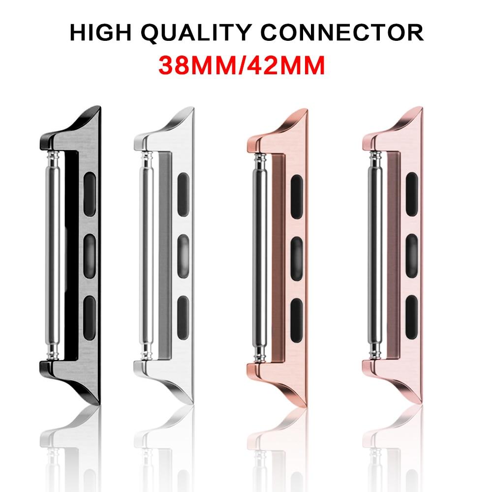 Seamless Metal Aluminum Strap Connector Adapter For Apple Watch Band 38mm 42mm Strap Connector For Iwatch Watchband Accessories