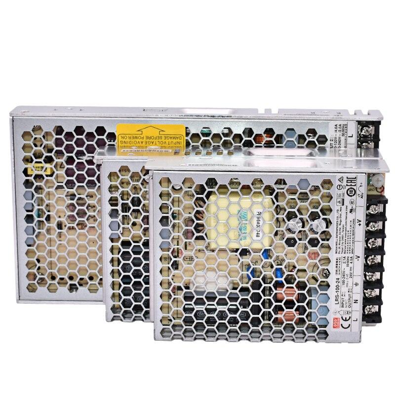 Бренд MEAN WELL представляет LRS-35 50 75 100 W 3,3 V 5V 12V 15V 24V 36V 48 V meanwell LRS-100 3,3 до 5 лет, 12 предметов в упаковке 15 24 36 48 V 100 W импульсный источник Питание