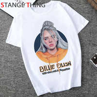 New Billie Eilish Hip Hop T Shirt Men Unisex Bad Guy Funny Cartoon T-shirt Grunge Aesthetic Tshirt Fashion Rock Top Tees Male