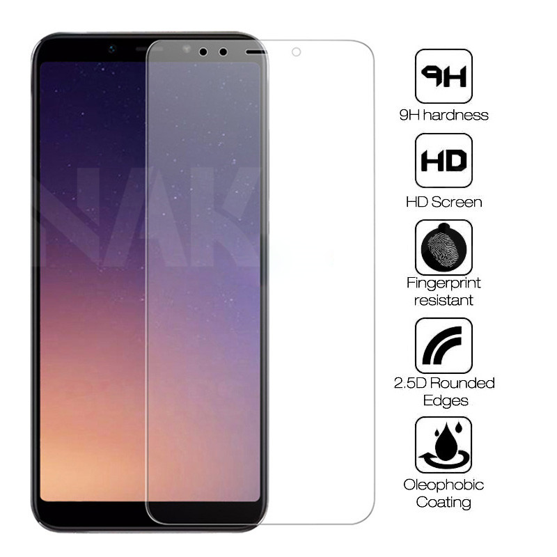 9H Tempered Glass For Samsung Galaxy A6 A8 Plus A9 2018 J2 J3 J7 J8 J4 J6 Plus 2018 Screen Protector Protective Glass Film Case