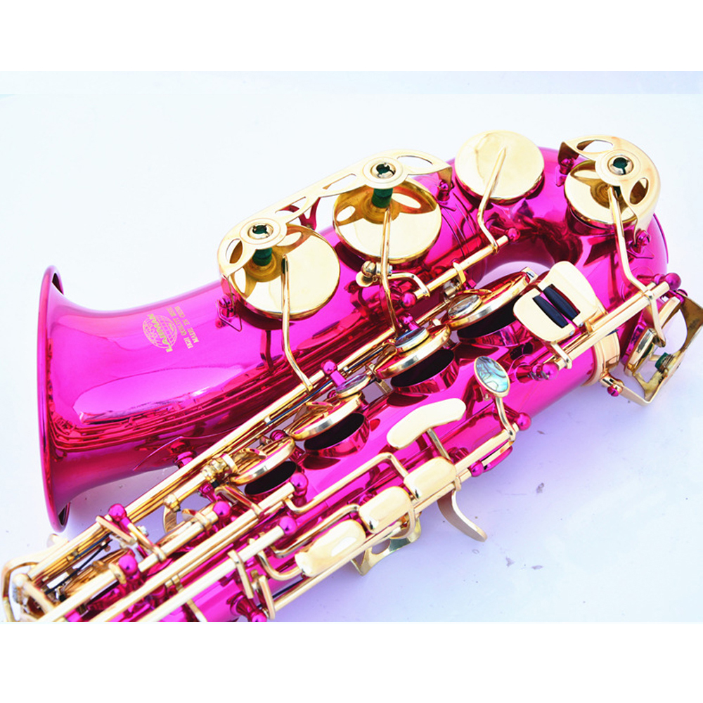 Hot Sale E flat Alto Saxophone 802 bond type Rose Red Gold Sax Playing Musical Instruments Brass Top Quality Saxofon Gift SAX07 - 5