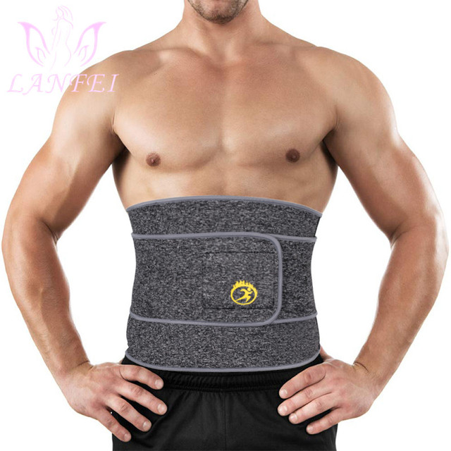 LANFEI Men Waist Trainer Cincher Body Shaper Belt Neoprene Weight Loss Tummy Control Modeling Strap Sauan Sweat  Slimming Corset