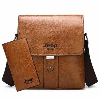 Jeep buluo Ανδρική Δερμάτινη Τσάντα ώμου .