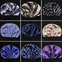 New 35 Colors Handkerchiefs Woven Stripe Paisly Striped Hanky Men's Luxury Casual Square Pockets Handkerchief Formal Wedding
