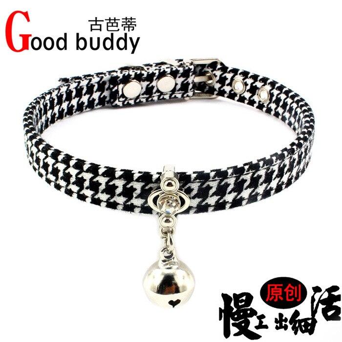 Man-made Diamond Lucky Cat Neck Ring Copper Bell Pet Collar Cute Golden Retriever Teddy Dog Shoulder Strap Fabric Traction Belt