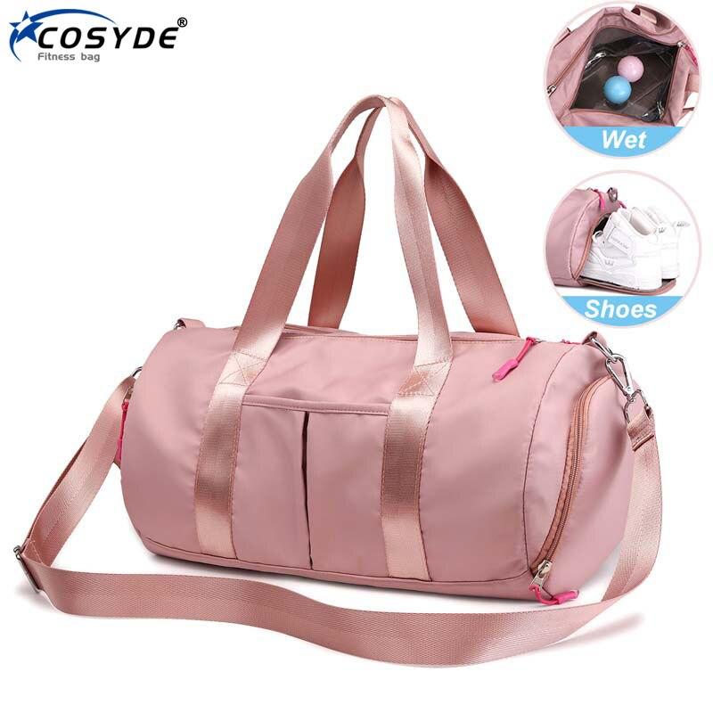 Outdoor Large Sports Bag For Women Fitness Wet Dry Men Gym Bag Pink Waterproof Travel Training Bag Shoes New Sac De Sport Femme