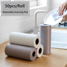 Scouring-Pad Kitchen Disposable for And Tableware Cleaning Dishcloths Non-Woven-Fabric