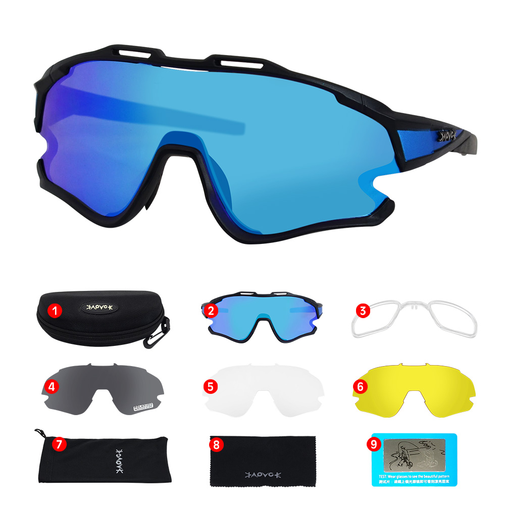 Cycling Sunglasses Professional Polarized Cycling Glasses MTB Road Bike Sport Sunglasses Bike Eyewear UV400 Bicycle Goggles 19