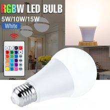 Bombilla Led RGBW mágica de 220V, bombilla Led RGB E27, 110V, colorida lámpara Led de 5W, 10W, 15W, RGBWW, iluminación para decoración del hogar