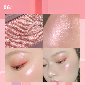1pcs Monochrome Highlighters Eye Shadow Palette Face Contour Bronzer Makeup Shimmer Tone Highlighter High Gloss Powder TSLM1