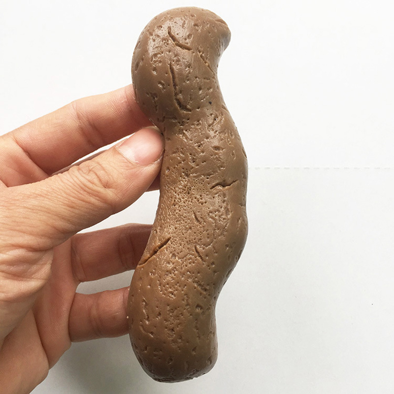 Funny Toys Realistic Shit Gift Joke Tricky Fake Poop Piece Of Shit Prank Antistress Gadget Squish Toys Turd Mischief