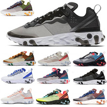 2020 New React Element running shoes 87 55 mens white black Black women breathab