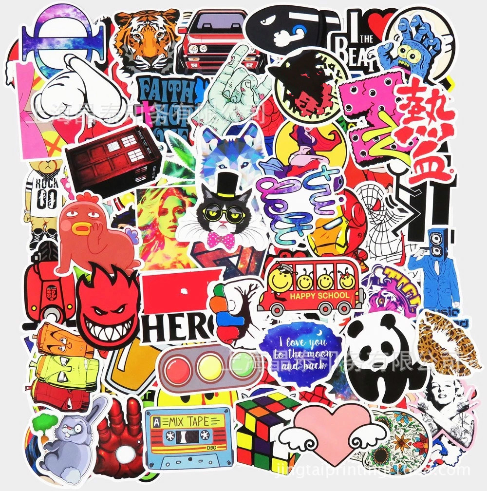 100pcs Car Sticker Waterproof Home Decor Doodle Laptop Truck Motorcycle Bike Guitar Travel Case Decal Accessories Window Sticker