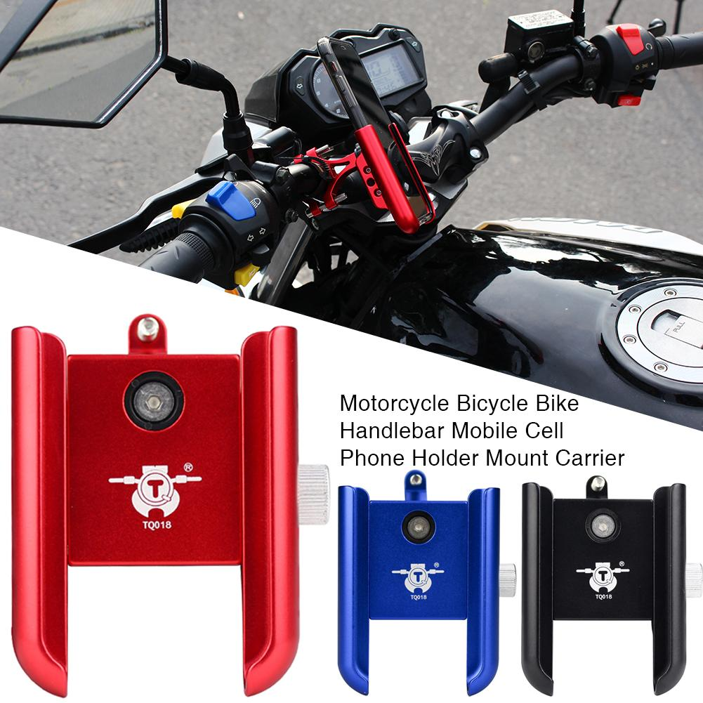 Mobile Phone Holder Motorcycle Shockproof Aluminum Alloy Navigation Mount Electric Car Bicycle Bike Handlebar Cell Phone Carrier image
