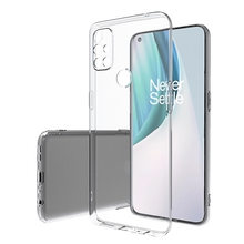 OnePlus Nord N10 5G durumda basit ince yumuşak TPU şeffaf şeffaf telefon kılıfı için OnePlus N100 bir artı N10 n100 kapak