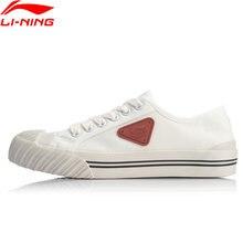 Li-ning mulher cookie clássico lona sapatos para andar forro conforto vulcanizado esporte sapatos lazer estilo de vida tênis agcq256