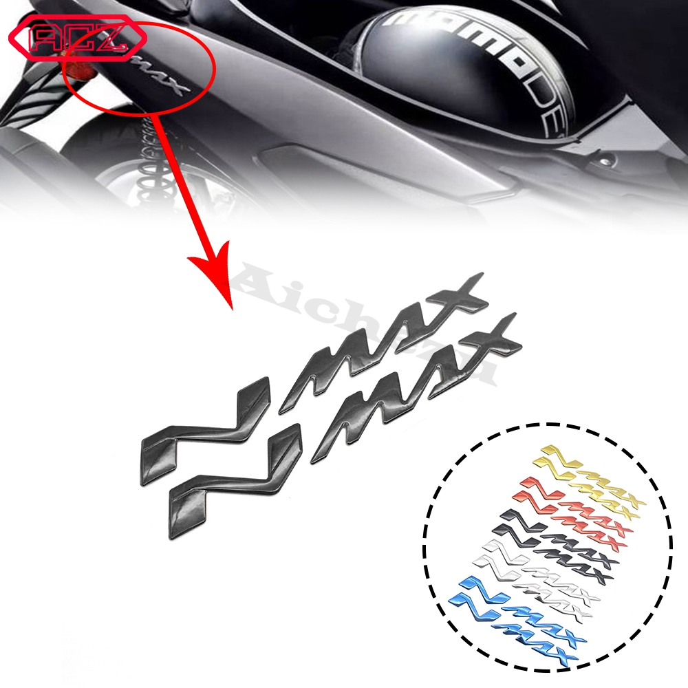 Motorcycle Decals <font><b>Stickers</b></font> Emblem Badge 3D Decal Raised Tank Wheel Tank Decals Applique Emblem For <font><b>Yamaha</b></font> NMAX155 <font><b>NMAX</b></font> 155 125 image