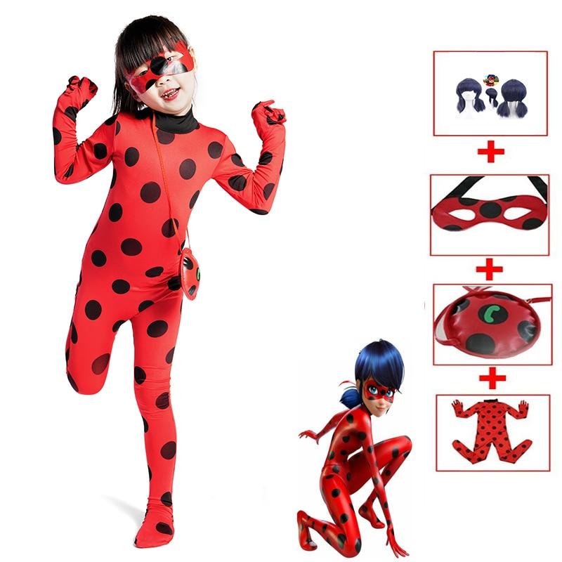 Anime Ladybug Costume Disfraz Ladybug Costume For Children Girls Party Cosplay Costumes Christmas Fancy Dress Gift