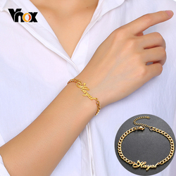 Vnox Personalize Heart Name Bracelet for Women Men Solid Stainless Steel Adjustable Unisex Jewelry Custom Unique BFF Sister Gift