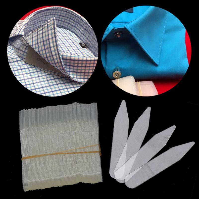 200Pcs Plastic Collar Stays 55*10mm Stiffeners Stay Bones Shirt Men's Clear Collar Stays