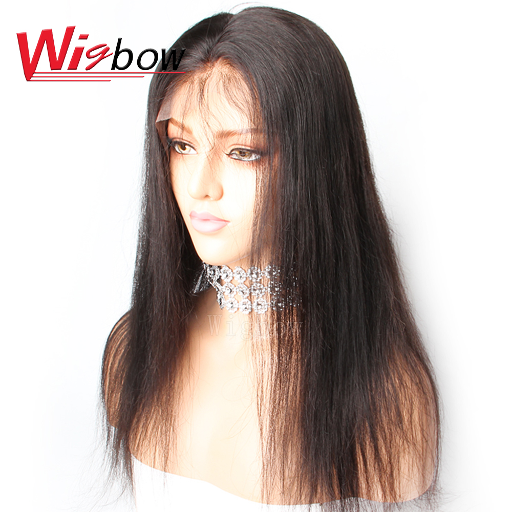 Wigbow OneCut Hair Full Lace Human Hair Wigs Straight Pre Plucked Hairline Baby Hair 8-28 Inch Brazilian Remy Human Hair