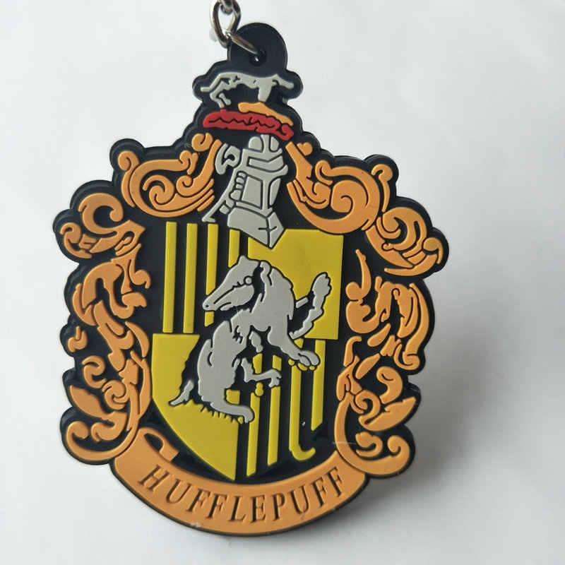 Phim Trường Phép Thuật Nhà Gryffindor PVC Móc Khóa Slytherin Ravenclaw Thời Trang Cá Tính Mặt Dây Chuyền Keyrings Porte Clefs Lưu Niệm Quà Tặng