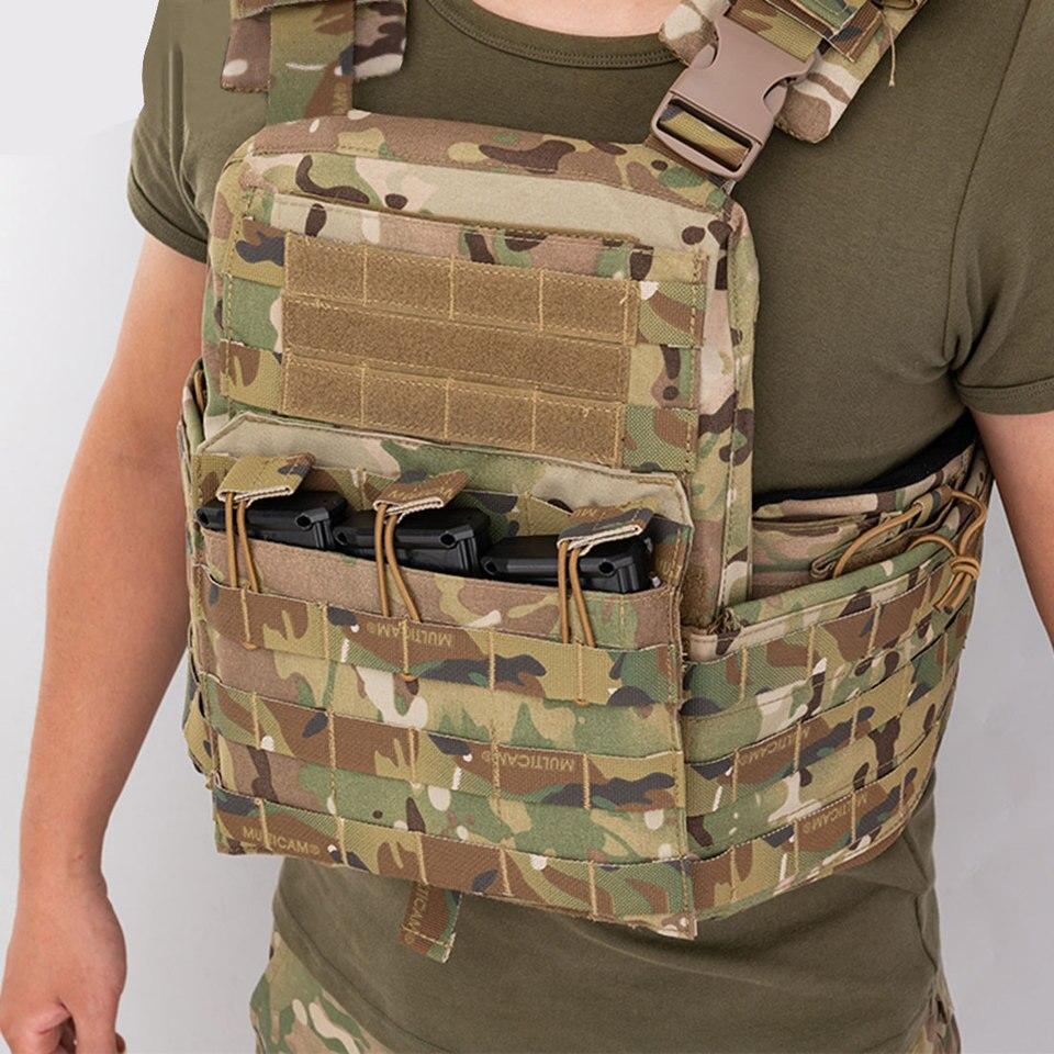 Leic Gilet Tactique CPC ext/érieur Style CP Anti Eau Gel de Protection Militaire Perles Gilet /à d/égagement Rapide pour CS entra/înement Airsoft Paintball Jeu