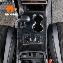 2014 2015 2016 2017 For Jeep Grand Cherokee Car ABS Carbon Fibre Gear Shift Knob Frame Panel Cover Trim Car Styling Accessories цена 2017