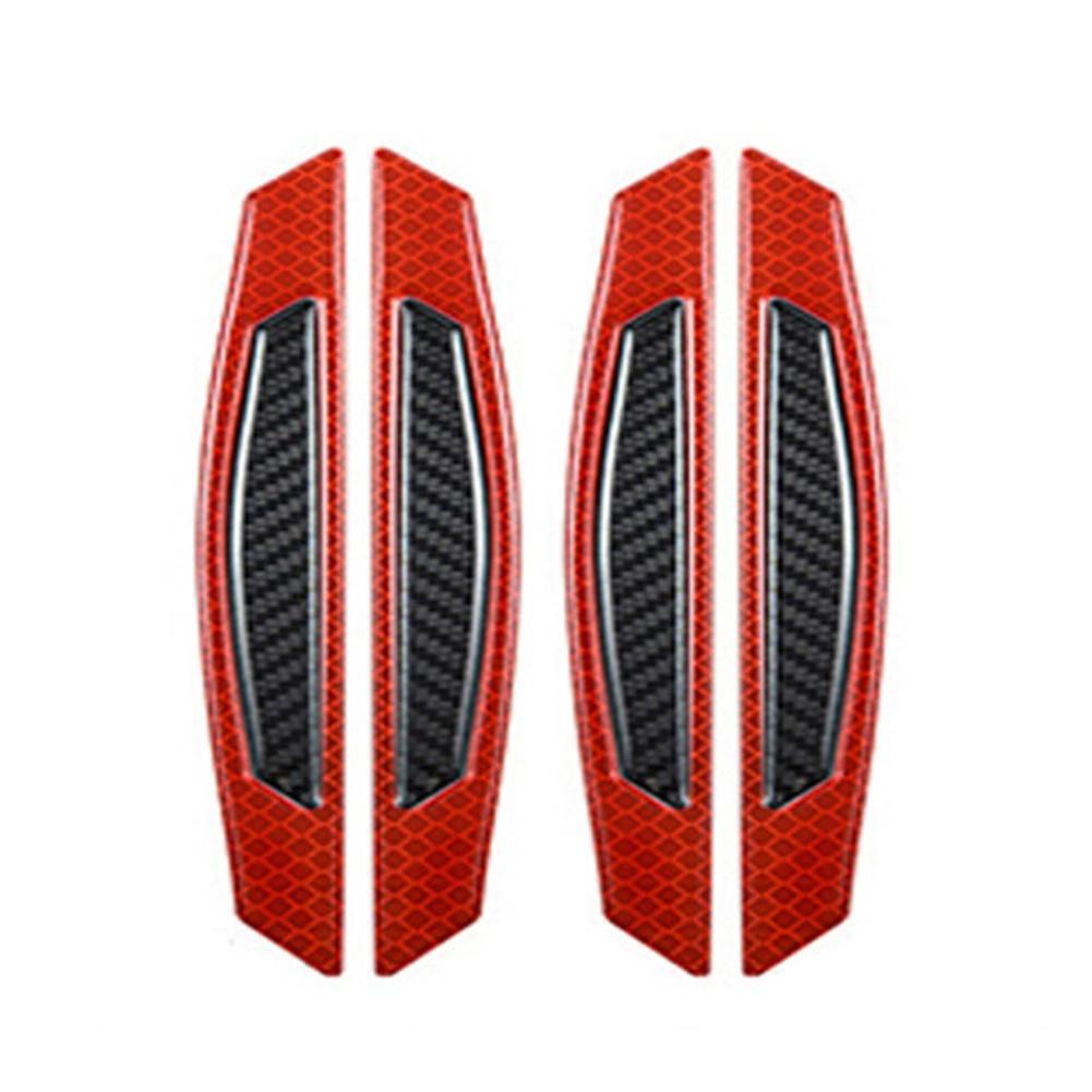 2/4Pcs Carbon Fiber Adhesive Reflective Car Door Wheel Eyebrow Bumper Protector Car Exterior Accessories Boutique 2019 new hot