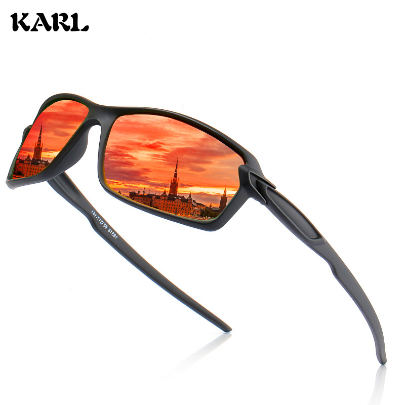 KARL Polarized Sunglasses Men Sports Women Elastic Paint Colorful Glasses Driving UV400