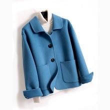 Autumn Winter Cashmere Coat Women 2020 Casual Wool Blend Coa
