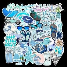 50 Pcs/Lot Custom Stickers Naklejki Kawaii School Sticky Sticker Papelaria Blue Ins Style Waterproof Removable TZ116D 50 pcs lot naklejki kawaii school viscous notes papelaria tide sports shoes stationery stickers waterproof removable tz083g