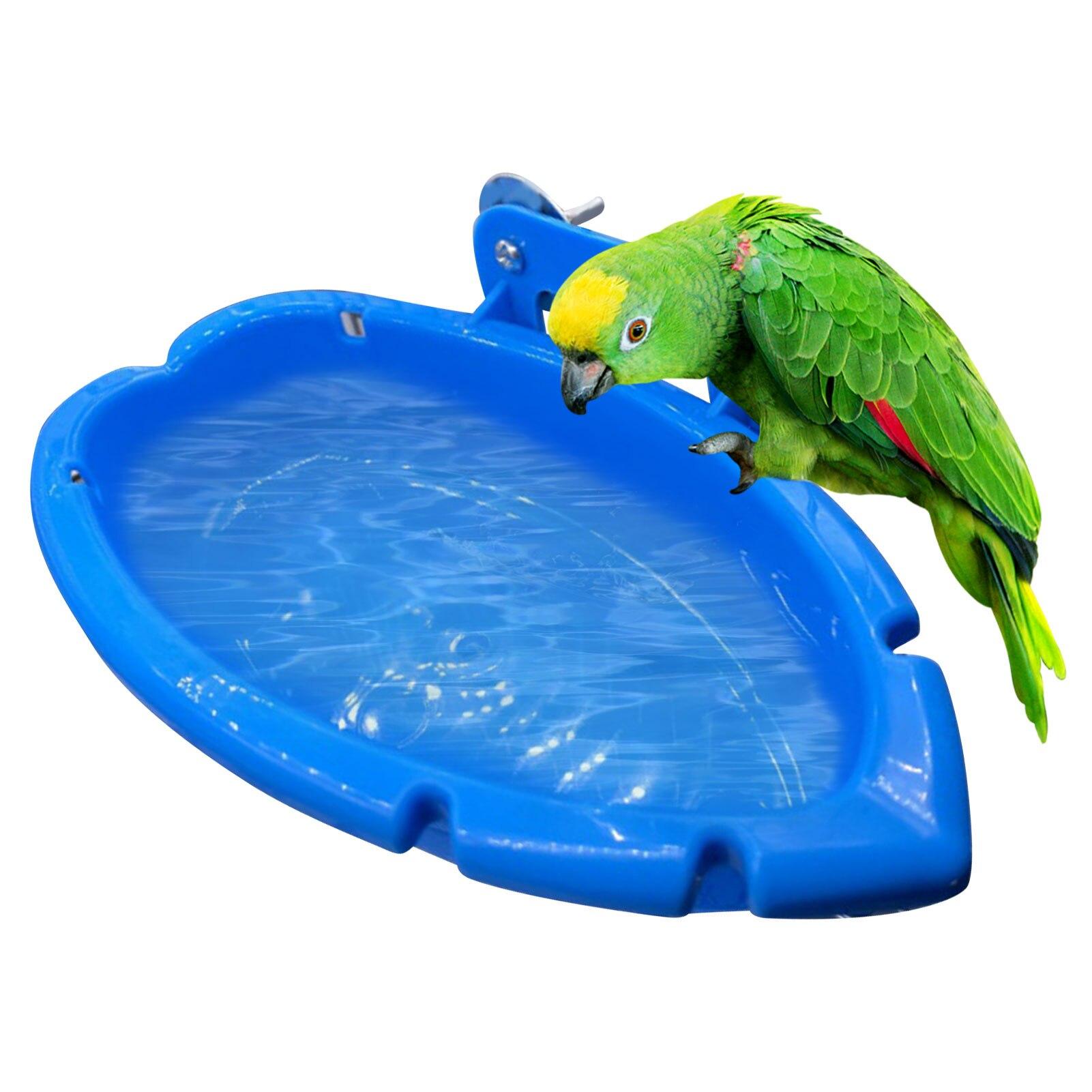 Bird Baths Tub Bowl Basin Parrot Cage Hanging Bathing Box Bird Birdbath Tub Parrot Bath Supplies Bath Room Feeder 1