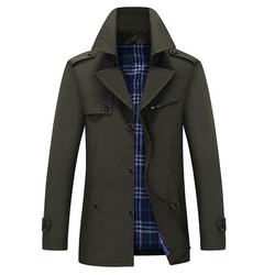 Autumn and winter new Korean fashion r men's middle-aged casual autumn coat men's coat