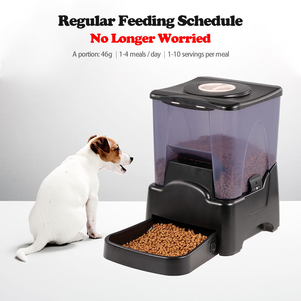 Automatic Pet Dog Feeder 10L Dog Food Dispenser Food Bowl for Cats and Dogs Voice Recorder Time Programmable Pet Supplies