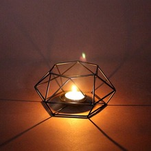 3D Geometric Candlestick Metal Wall Candle Holder christmas candle holde home decorations Visual Touch Nordic Style bougeoir