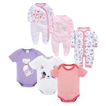 Cute Newborn Toddle Infant Baby Girls Jumpsuit Set Bodysuit Long Sleeve Infant Girl Jumpsuit Cotton Autumn Outfits Clothes 0-12M цена