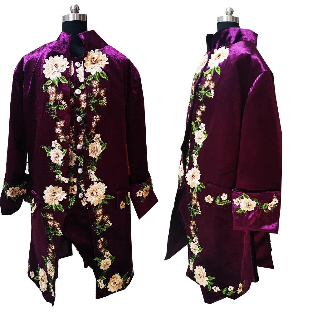 Классический мужской костюм из трех предметов, пиджак и шорты, винтажный костюм с длинным шлейфом, мужской костюм для выступлений в виктори