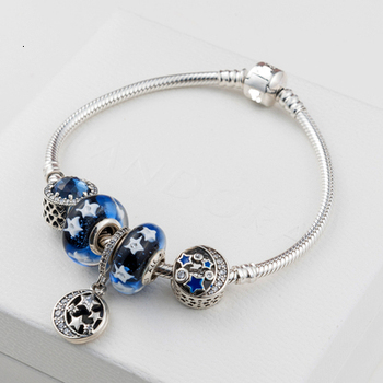 High Quality 1:1 100% 925 Silver sterling star Free shipping bracelet accounts