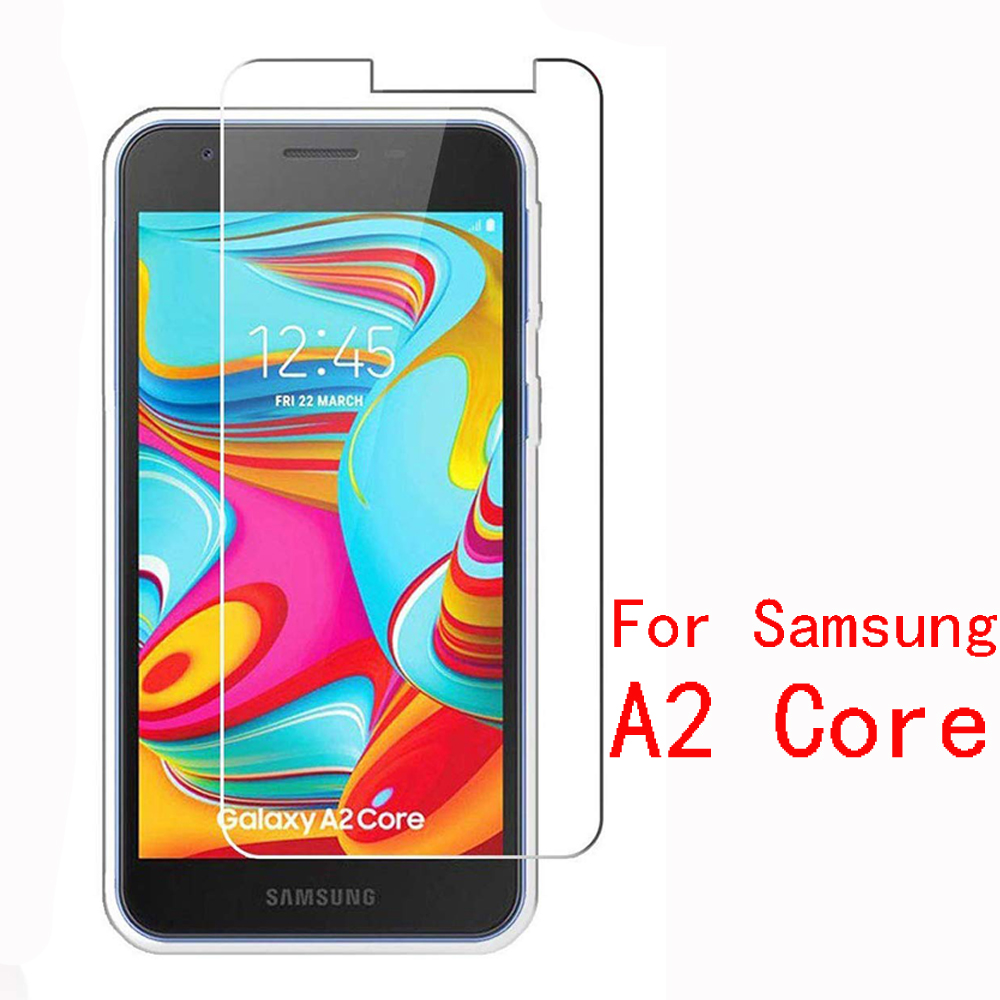 2PCS Protective Glass For Samsung A2 Core Case On For Samsung Galaxy A2 Core Tempered Glass SM-A260F A260 Protection Screen Film