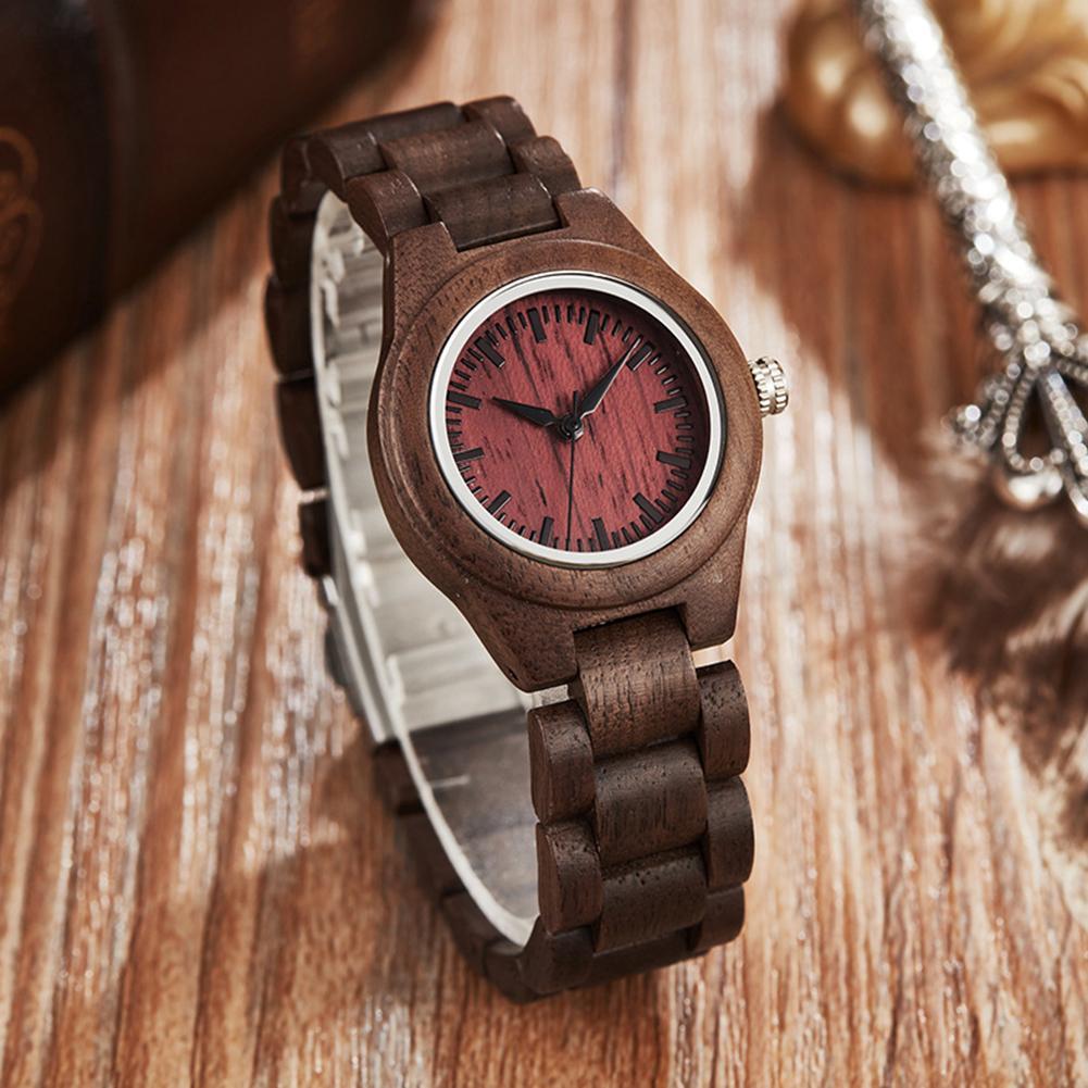 Men's Wood Watches Vintage Sandalwood Clock Male Unique Mixed Color Wooden Adjustable Band Quartz Woody Unique Watches