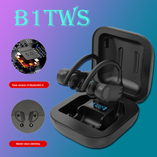 B1 TWS LED Bluetooth Earphones Music Headphone Business Headset Earpiece Sports Earbuds Noise Reduction Works on all Smartphones