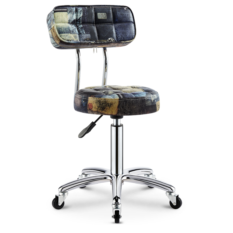 Hairdressing Salon Chair Barber Shop Stool Rotating Lifting Pulley Beauty Stool Work Bench Makeup Hair Salon Nail Stool