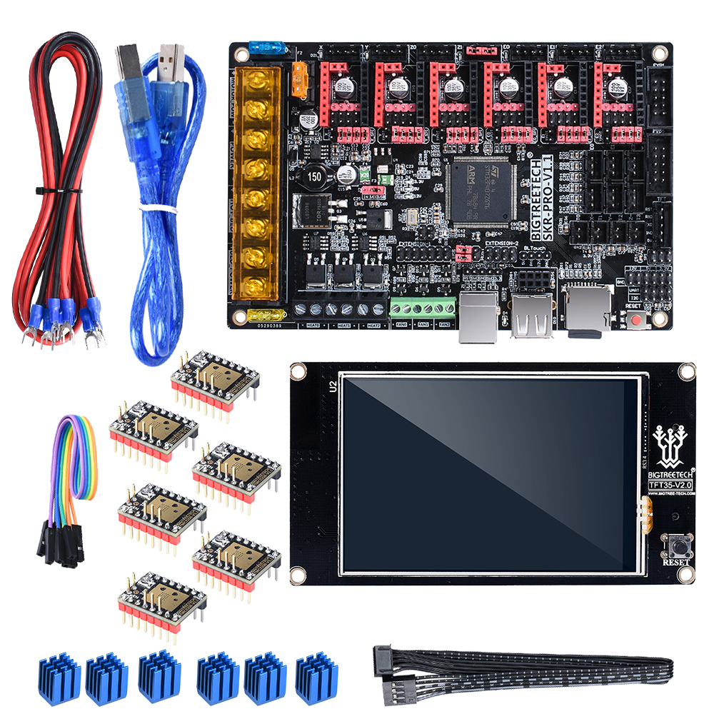 BIGTREETECH SKR PRO V1.1 With TFT35 V2.0 Touch Screen TMC2208 UART TMC2209 TMC2130 Driver 6PCS 3D Printer Board Kit VS SKR V1.3-in 3D Printer Parts & Accessories from Computer & Office