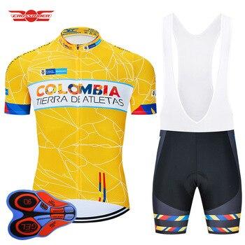Conjunto de ropa de ciclismo para hombre, maillot corto de jersey 9D...