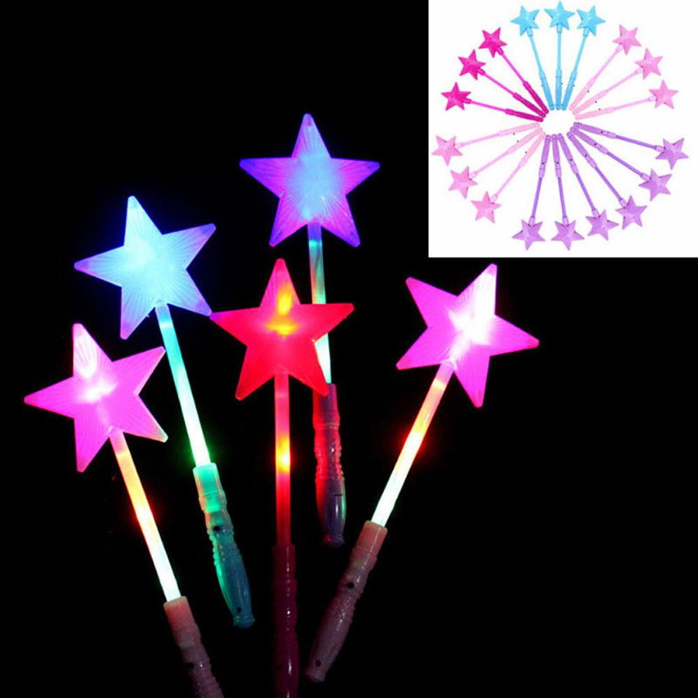 1Pcs Kids Magic Luminous Star LED Glow Stick Flashing Light Up Wand Party Concert Toy Child Star Magic Party Concert Cheers Toys