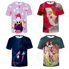 цена 2020 Summer Hunter Hunter Hisoka Boys Girls 3D Print Short Sleeve O Neck Tee Shirts for Kids Birthday Gifts Clothing онлайн в 2017 году