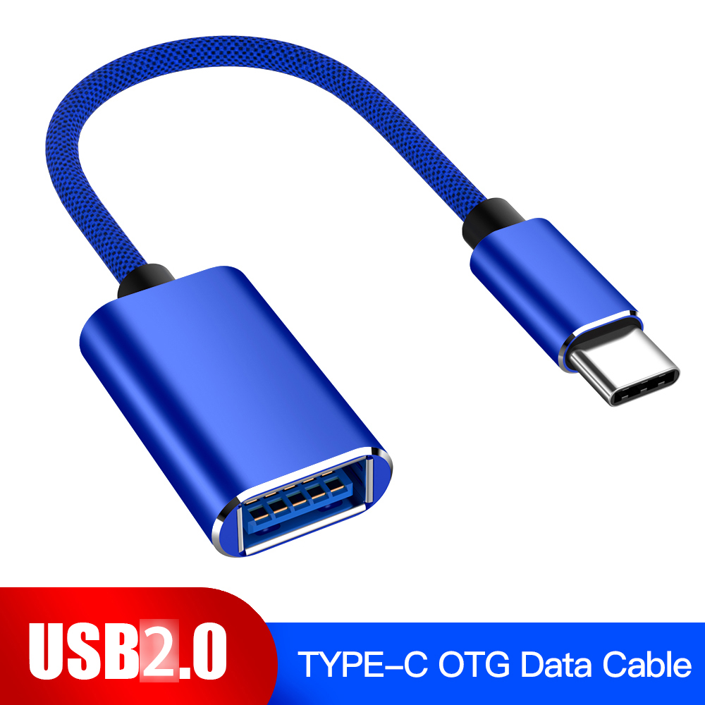 USB-C OTG Cable Type-C Male To USB 2.0 Female Metal Converter For Samsung S10 S9 Macbook Xiaomi Mi8 Huawei USB2.0 To Type-C OTG