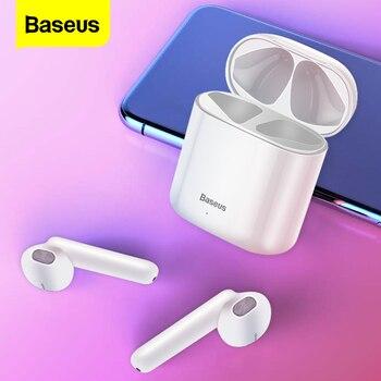 Baseus W09 TWS bezprzewodowe słuchawki Bluetooth słuchawki douszne Bluetooth 5.0 słuchawki prawdziwe bezprzewodowe słuchawki douszne do telefonu iPhone Xiaomi